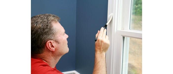 Målning insida fönster