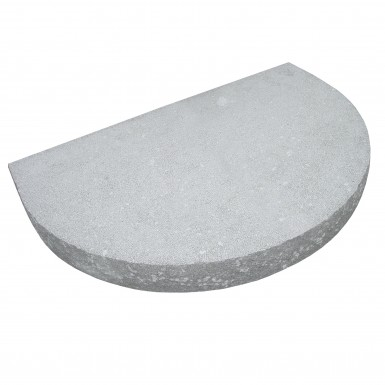 Entréplan Granit Pearl Grey Halvrund