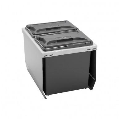 Beslag Design Källsortering CUBE 400 S Silver