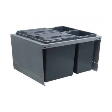 Beslag Design Källsortering 210004610 Cube 600 L - Svart