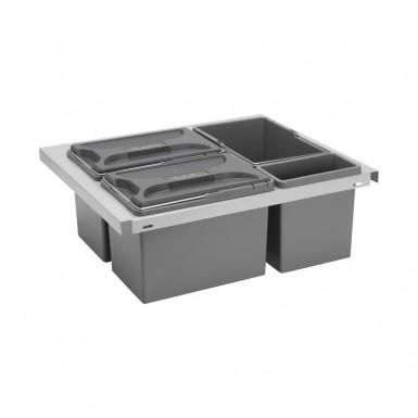 Beslag Design Källsortering s-system CUBE smart 600 Silver