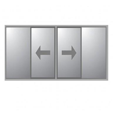 Kombiparti Dörrar Novoroom Exklusiv 2 Skjutbara & 2 Fasta