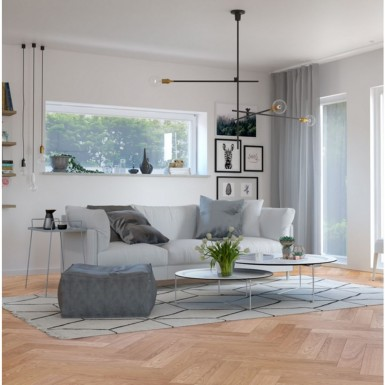 Trägolv Nordic Floor Ek 1-stav Herringbone Country