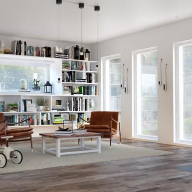 Trägolv Nordic Floor Valnöt Natur 3-stav Sidenmatt
