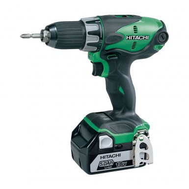 Borrskruvdragare Hitachi Power Tools DS18DSL Med Batteri 5,0AH